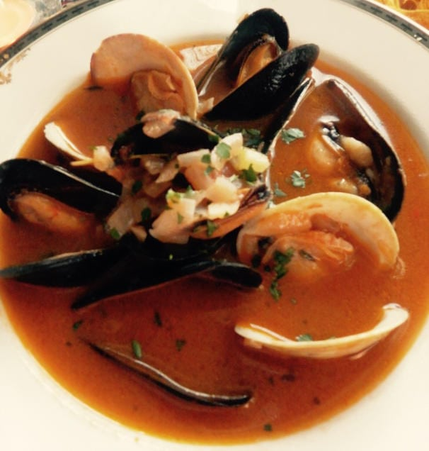 Mussels, Clams and Tomato Soup