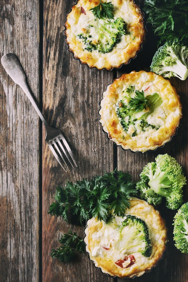 Low Carb Egg and Broccoli Quiche